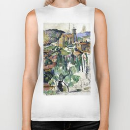 1885 - Paul Cezanne - The Village of Gardanne Biker Tank