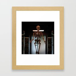Human Skeleton at Museum Vrolik Framed Art Print
