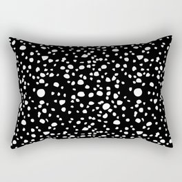 Postmodern Granite Terrazzo Large Scale in Black + White Rectangular Pillow