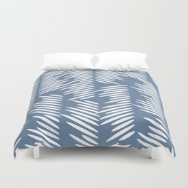 Leaves abstract in blue Duvet Cover