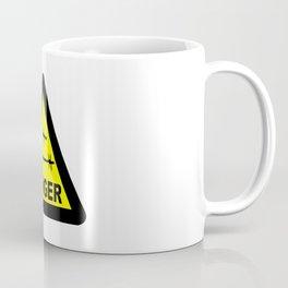 Triangle Barbed Wire Warning Sign Coffee Mug