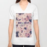 bonjour V-neck T-shirts featuring Bonjour by Création Numérique du Rocher