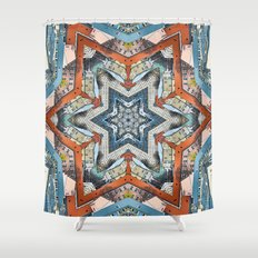 Abstract Geometric Structures Shower Curtain