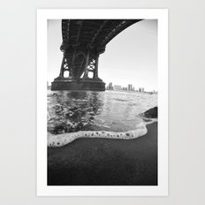 Under The Manhattan Bridge Art Print