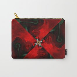 Christmas Poinsettias and Music Carry-All Pouch