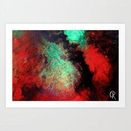 "Original Abstract Painting ""Titan"" Mixed Media Close Up Photograph Art Print"