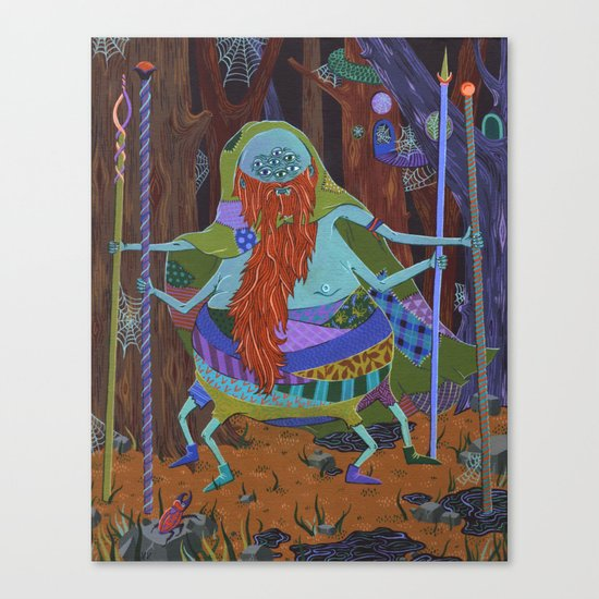 The Spider Wizard Canvas Print