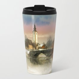 winter landscape Travel Mug
