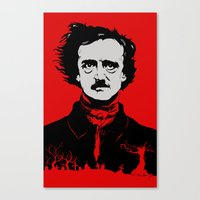 poe Canvas Prints featuring POE by Eric Thorpe-Moscon Designs