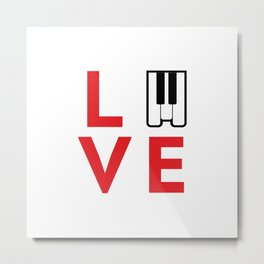 Love music #society6 #music #buyart #artprint Metal Print