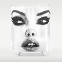 catwoman Shower Curtains featuring Catwoman by Кaterina Кalinich