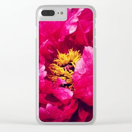 Peonies Please Clear iPhone Case