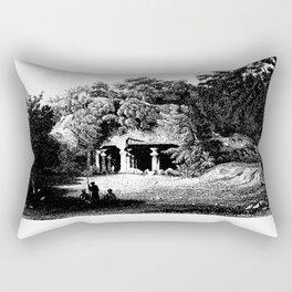 ENTRANCE to ELEPHANTA CAVES Rectangular Pillow