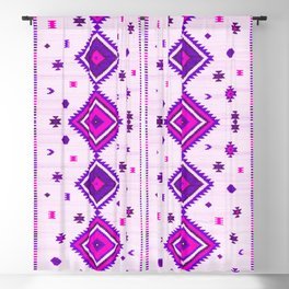 Purple Heritage Traditional Boho Moroccan Style Blackout Curtain