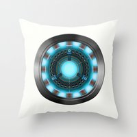 ironman Throw Pillows featuring IRONMAN by Yuliya L