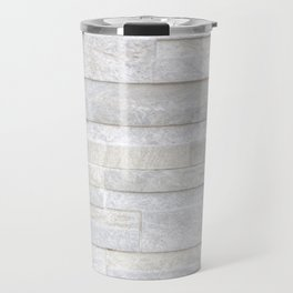 Texture of old gray concrete wall for background Travel Mug