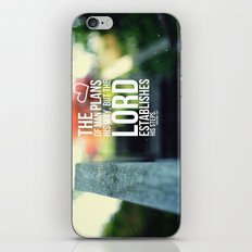 The Lord establishes his steps  iPhone & iPod Skin
