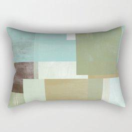 Modern Abstract No. 5    Aqua, Chocolate, Sage + Mocha Rectangular Pillow