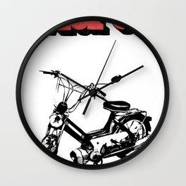 Moped Wall Clock