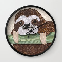 It's a sloth kind of day Wall Clock