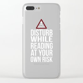 Disturb Reading At Your Own Risk Novelty Shirts for Women Clear iPhone Case