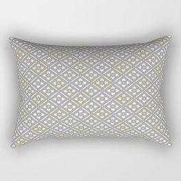 Greige Floral Rectangular Pillow