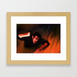 Talk To Me Devil Again Framed Art Print