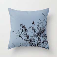 Bird Silhouettes Throw Pillow