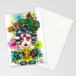 Fourth of July Flapper Stationery Cards