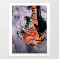 Sleeping Bat Art Print