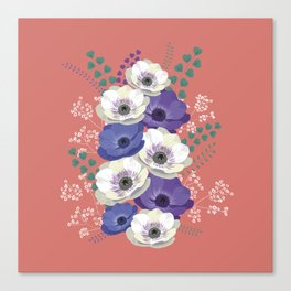 Anemones collection: bouquet II Canvas Print