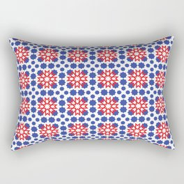 Geometric Pattern - Oriental Design Rectangular Pillow