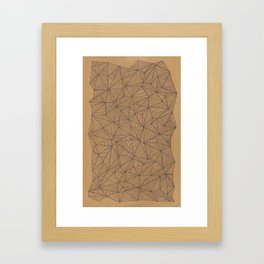 Geometry is like, hard. Framed Art Print