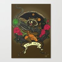 rocket raccoon Canvas Prints featuring Rocket Raccoon by Ginger Breo