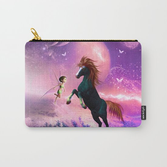 Horse with cute fairy  Carry-All Pouch