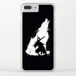 Wolf Knight Clear iPhone Case