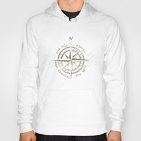 gondor Hoodies featuring Not all those who wander are lost - J.R.R Tolkien by Augustinet