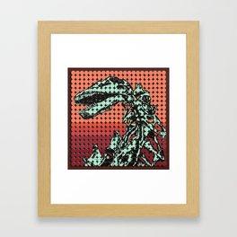 Apatosaurus Skeleton Framed Art Print