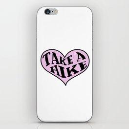 Take A Hike Heart iPhone Skin