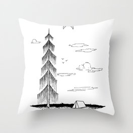 Droopy Tree Throw Pillow