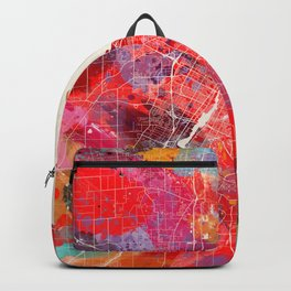 Green Bay map Wisconsin painting 2 Backpack