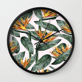 Bird Of Paradise Pattern #society6 #decor #buyart Wall Clock