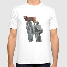 plato n aristotle walking their doge White Mens Fitted Tee SMALL