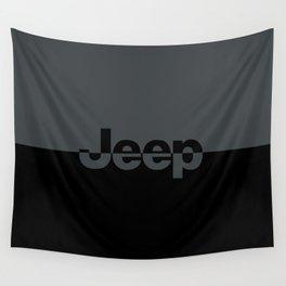 Jeep 'LOGO' Smoke Gray Wall Tapestry