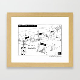 """""""The Market Research Zoo"""" Framed Art Print"""