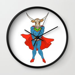 Man of Steer Wall Clock