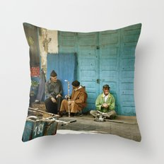 North African tea time Throw Pillow