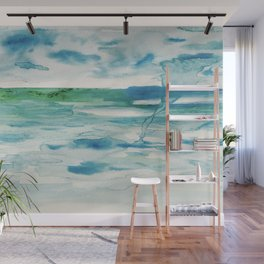 Miami Beach Watercolor #2 Wall Mural