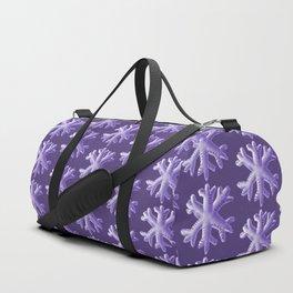 Ultra Violet Snowflake Pattern Duffle Bag