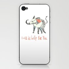 i will be lucky for you. iPhone & iPod Skin